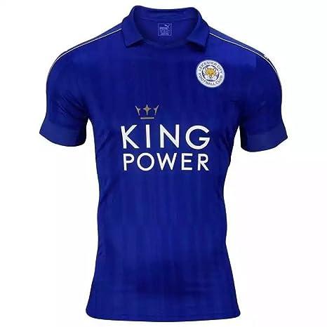 2017 Nueva Temporada Leicester City de bricolaje Nombre y Número Casa Camiseta de fútbol en azul