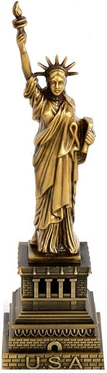 18cm Shopready Statue of Liberty Model Statue of Liberty Metallic Statue Statue of Liberty Figurine for Souvenirs
