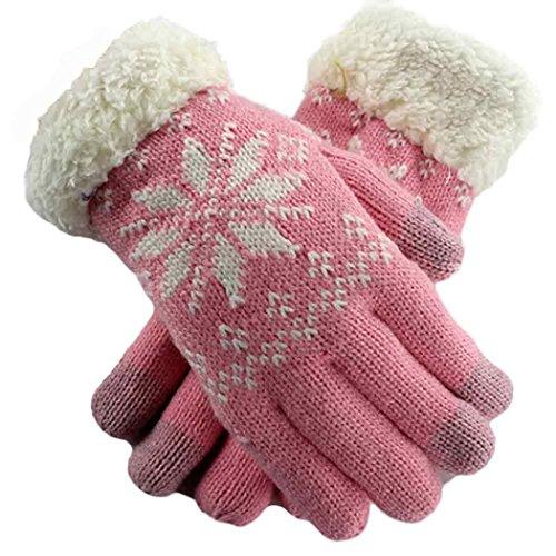 Girls Knit Wool Winter Keep Warm Gloves
