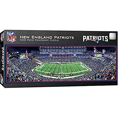 MasterPieces NFL New England Patriots Stadium Panoramic Jigsaw Puzzle, 1000 Pieces