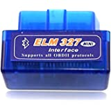 abbort Mini ELM327 OBDII OBD2 Bluetooth Car Diagnostic Scan Tool Auto Scanner for Android Devices V2.1