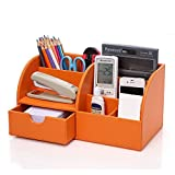 Best phone case Office Desks - UnionBasic Multifunctional PU Leather Office Desk Organizer Business Review