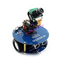 Hot AlphaBot2 Robot Building Starter Kit Accessory Pack for Raspberry Pi Zero/Zero W with Ultrasonic sensor SD Card Camera IR Controller (No PiZero) @XYGStudy
