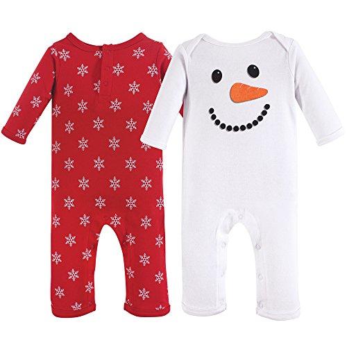Hudson Baby Cotton Union Suit, 2 Pack, Snowman, 18-24 Months