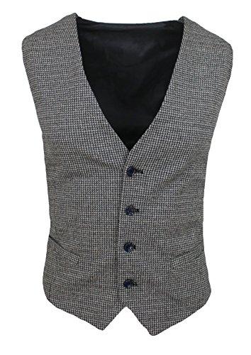 Gilet smanicato uomo FB Class sartoriale grigio invernale in lana