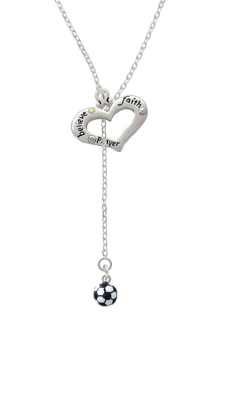 Resina de balón de fútbol - Believe FE Oración Corazón Lariat ...