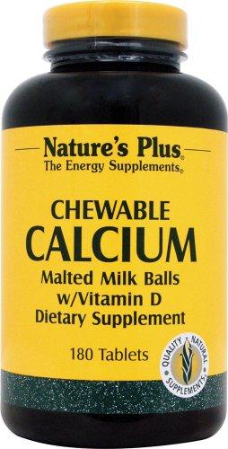 Calcium Vanilla Malted Milk Balls Nature's Plus 180 Chewable 180 Vanilla Chewables