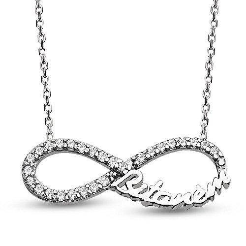 Sweetheart Gemstone Pendant (Serra Women 925 Karat Silver Sonsuz Bitanem (Forever Sweetheart) Necklace)