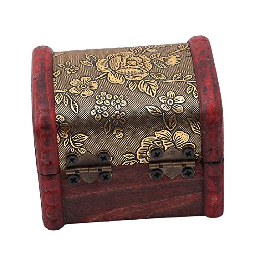VWH Wooden Storage Box,Handcraft Wood Box Kit,Case Cabinet Container with Lock and Key Rustic Western for Keepsake,Photo,Trinket,Letter,Document Organizer (style1) by VWH (Image #2)