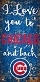 Fan Creations MLB Chicago Cubs I Love You to Signchicago Cubs I Love You to Sign, Team, One Sizes