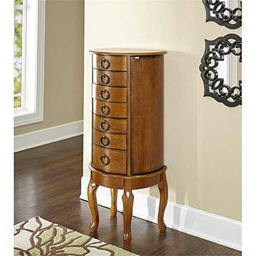 Powell Burnished Oak Jewelry Armoire by Powell (Image #3)