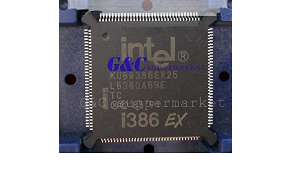 IC KU80386EX25-TB QFP132 32-BIT 25MHz 4.5v-5.5v INTEL  NEW GOOD QUALITY
