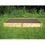 Infinite Cedar Raised Bed Garden Kit 4'x8'x11 7 Long-lasting raised garden beds made from rot resistant thick Western Red Cedar Boards Easy Assembly –Assembles in minutes and can be easily disassembled as needed. Strong, Quality build – 1″ thick premium quality deck boards combined with strong joint design will not bow under the weight of wet soil and will last for years.