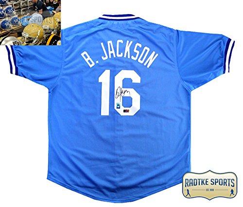 Bo Jackson Autographed/Signed Kansas City Royals Powder Blue Custom - Bo Autographed Helmet Jackson