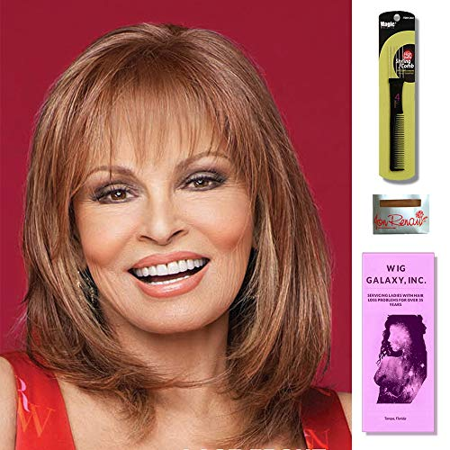 (Top Billing by Raquel Welch, Wig Galaxy Hair Loss Booklet, Wig Cap & Magic Wig Styling Comb/Metal Pick Combo (Bundle - 3 Items) (Topper, Shaded Biscuit (RL19/23SS)))