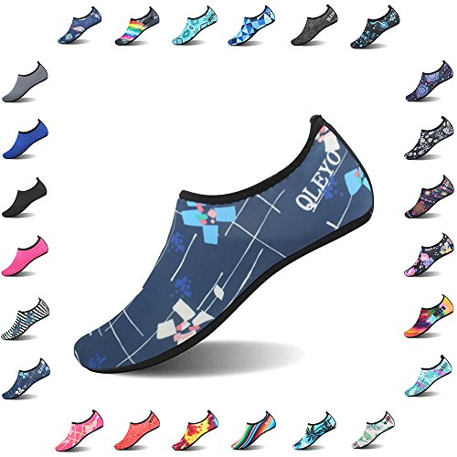 QLEYO Water Shoes Quick Dry Shoes for Men and Women Barefoot Skin Shoes Beach Water Shoes for Swim Yoga surf Style10