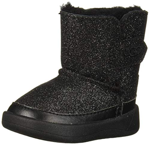 UGG Girls' I Keelan Glitter Fashion Boot, Black, 02/03 M US Infant