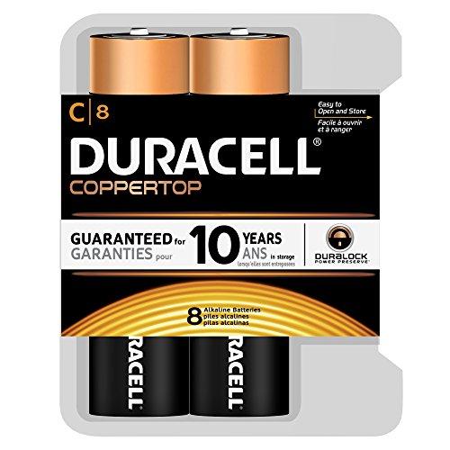 Duracell Coppertop C Batteries 8 Count