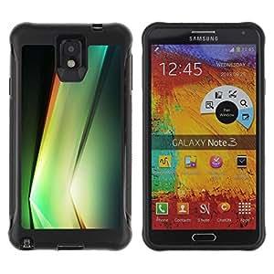 LASTONE PHONE CASE / Suave Silicona Caso Carcasa de Caucho Funda para Samsung Note 3 / Plant Vibrant Black Shapes Nature