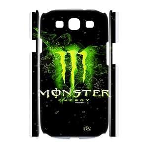 DIY Stylish Printing Monster Energy Cover Custom Case For Samsung Galaxy S3 I9300 MK1Q972353