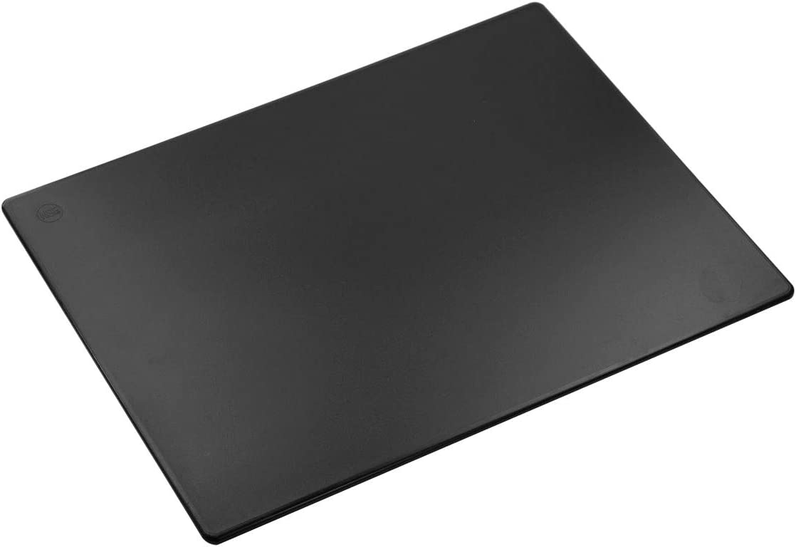 Commercial Plastic Cutting Board NSF, Extra Large - 24 x 18 x 0.5 Inch, Black