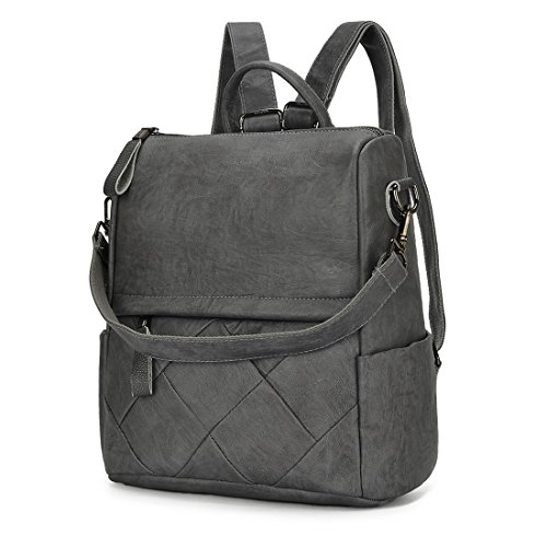 Woman PU Alovhad Bag School Cute Bags Backpack Shoulder and by Leather Teen Purse Handbags Bag Girls Grey For Brown 9 Multifunction Fashion FxxPqHOpIw
