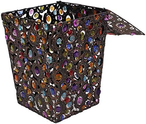 洗濯用バスケット収納用バスケット衣類用洗濯バケツランドリーバスケット収納ボックスダーティーハンマーカバードクラフト 玄関収納 (Color : Brown, Size : 22*30cm/9*12inch)