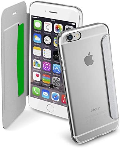 Cellularline Clear Book - iPhone 6S/6 Custodia a libro rigida con