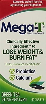 Mega-T Green Tea, Fat Burning Supplement, Caplets 90 ea by MC