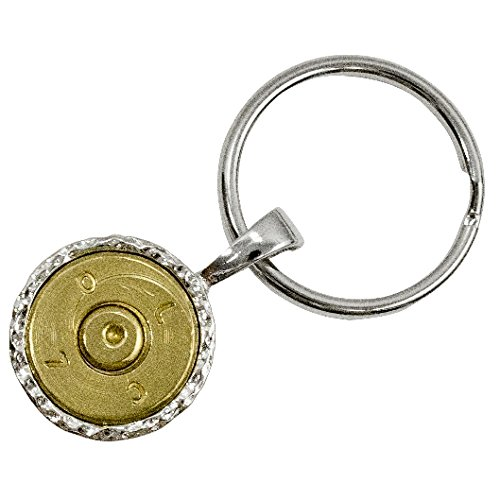 RBSK-50 Real Bullet key chain with Recycled Bullet Casings, Brass, 50-Gauge (Recycled Brass Bullet)