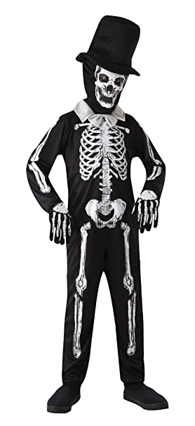Skeleton Outfit Halloween.Boys Skeleton Outfit Halloween Costume Scary Spooky Fancy