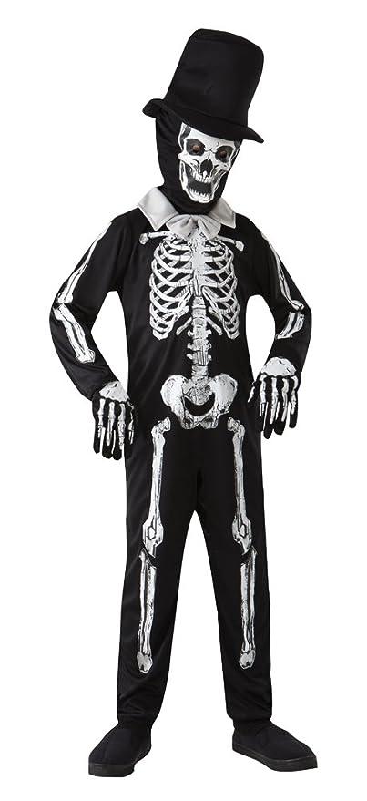 Disfraz de esqueleto zombi (blanco, talla M, de 122 a 134 cm, edad ...