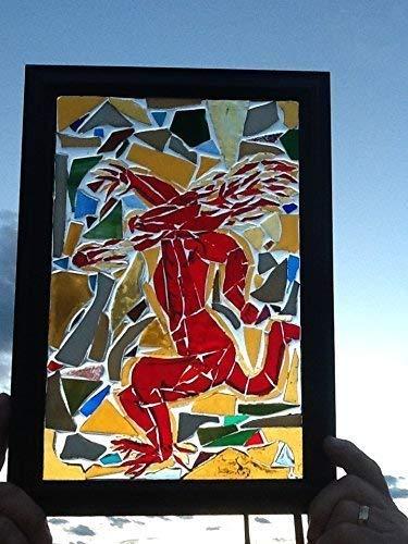 (Red devil Stained Glass window art suncatcher)