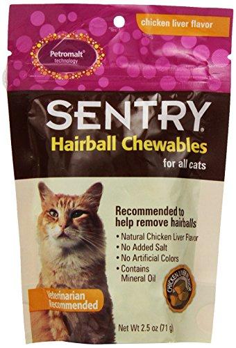 Petromalt Cat Treats (SENTRY Hairball Relief (Petromalt) for Cats, Chicken Liver Flavor 2.5)
