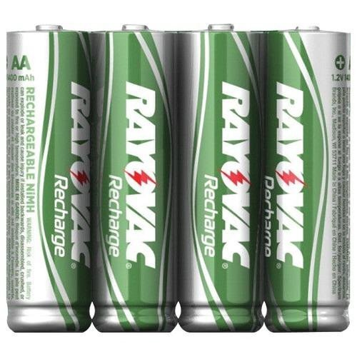 Rayovac Rechargeable Nimh Aa Batteries (RAYOVAC LD715-4OPB Ready-to-Use Rechargeable NiMH Batteries (AA; 1,350mAh; 4 pk))
