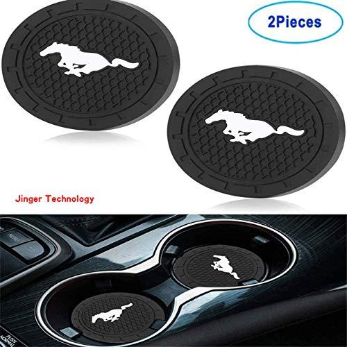 (2 pcs, 2.75 inches in Diameter) Auto Cup Holder Inserts Coasters Auto Interior Accessories-Silicone Anti-Skid Coasters…