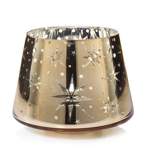 Yankee Candle Large Gold and Silver Shimmering Star Jar Shade Candle Topper