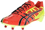 ASICS Men's GEL-Lethal Speed Deep Orange/Black/Flash Yellow Rugby Shoe - 7.5 D(M) US
