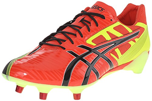 ASICS Mens GEL-Lethal Speed Rugby Shoe Deep Orange/Black/Flash Yellow XGfJ3ogB1d