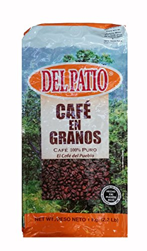 Del Patio Whole Bean Coffee (Cafe) from Puerto Rico 2.2LB Pounds