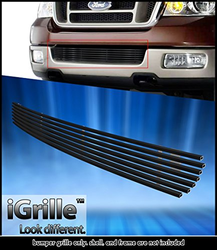 Black Stainless Steel eGrille Billet Grille Grill For 2004-2005 Ford F-150 Lower Bumper Insert