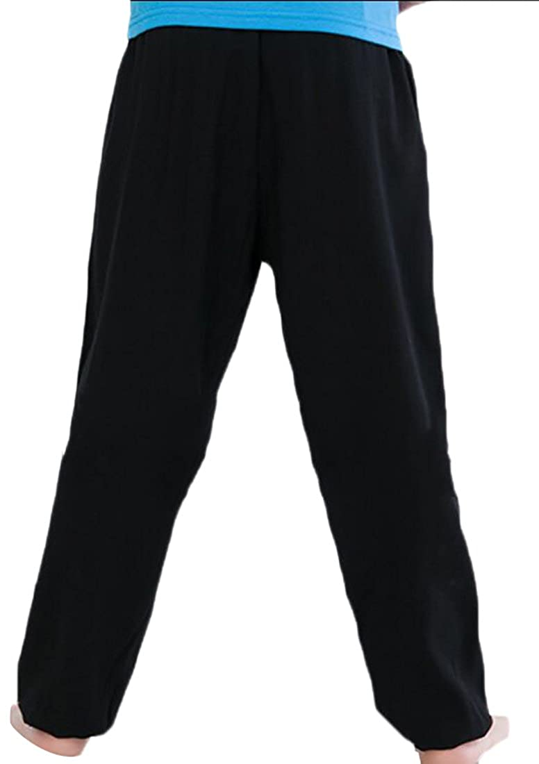 WSPLYSPJY Mens Summer Cotton Soft Solid Color Pajama Pants