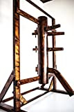 Wing Chun Wooden Dummy with Frame and Legs Walnut