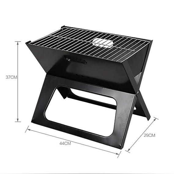 Barbecue supplies X-Tipo Barbacoa Plegable al Aire Libre Estante, Parrilla de carbón casera Conveniente, 3-5 Personas Herramienta de Barbacoa Salvaje ZDDAB: ...