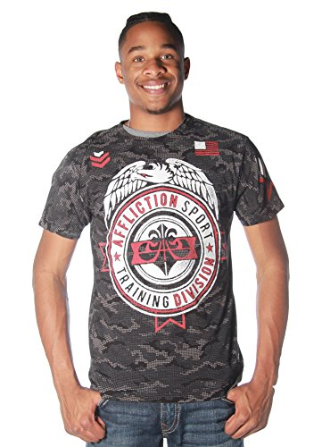 Affliction L/s Tees - Training 73 S/S Tee in Black by Affliction (L)