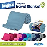 Cloudz Compact Travel Blanket – Light Blue