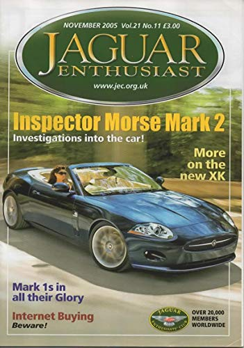 Jaguar Enthusiast Magazine, November 2005 (Vol 21, No 11)
