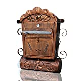 HZBc European Style Villa Mailbox Outdoor Antique Wall Hanging Mail Box,Wall Decoration