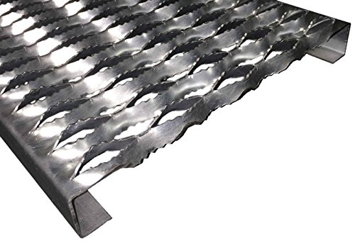 3151514-72 Grip Strut Channel 14 Gauge Carbon Steel 5-Diamond Plank Safety Grating, 72'' Length x 11-3/4'' Width x 1-1/2'' Depth by Small Parts