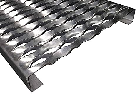 3122012-144 Grip Strut Channel 12 Gauge Carbon Steel 2-Diamond Plank Safety Grating 144 Length x 4-3//4 Width x 2 Depth